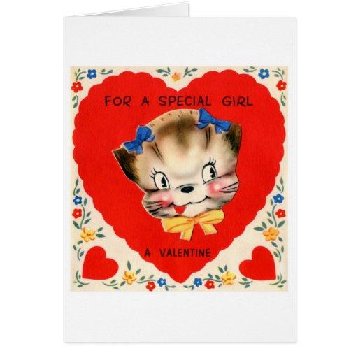Para un chica especial tarjeta de felicitación