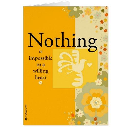 Para un corazón valiente nada es imposible tarjetón