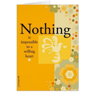Para un corazón valiente nada es imposible tarjeta de felicitación