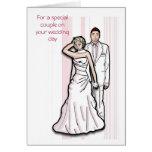 Para un par especial en su día de boda tarjetas