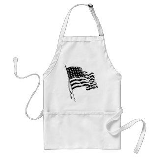 Para un patriota de los E E U U Bandera american Delantales