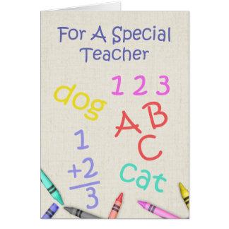 Para un profesor especial - aprecio tarjetas