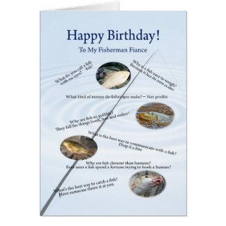 Para un prometido, pescando bromea tarjeta de cump