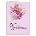 Para una abuela, una tarjeta de cumpleaños con las