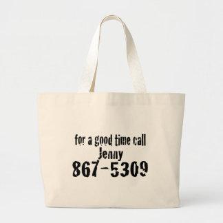 Para una buena llamada del tiempo… bolsas lienzo