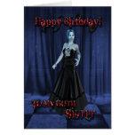 Para una hermana del gótico, una tarjeta de cumple