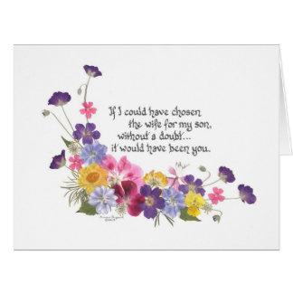 Para una nuera tarjeta de felicitación grande