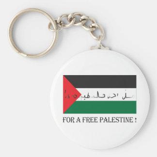 ¡Para una Palestina libre! Llavero Redondo Tipo Pin