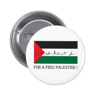 ¡Para una Palestina libre! Pin Redondo De 2 Pulgadas