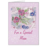 Para una tarjeta especial del día de madre de la m