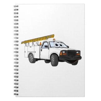 Para uso general coja el dibujo animado blanco spiral notebooks