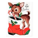 Para usted en el reno del navidad postal