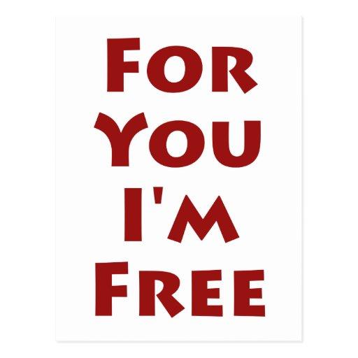 Para usted estoy libre tarjeta postal