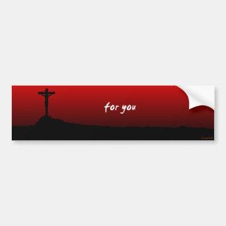 para usted (Jesús murió) Pegatina Para Auto