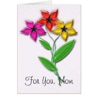 Para usted, mamá tarjeta de felicitación