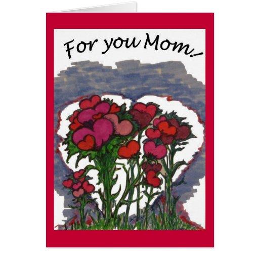 Para usted tarjeta del día de madre de la mamá