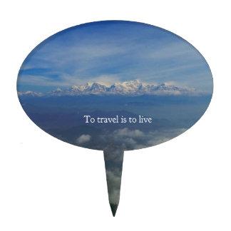 Para viajar es vivir CITA del VIAJE Decoración De Tarta