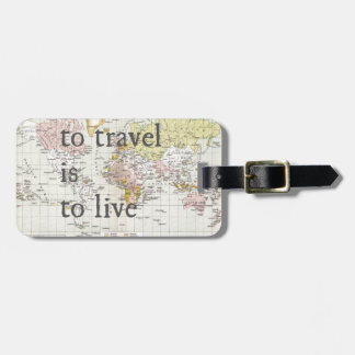 Para viajar es vivir etiqueta de equipaje