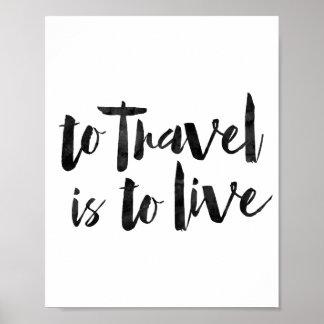 Para viajar es vivir póster