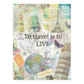 Para viajar ls a vivir cita tarjetas postales
