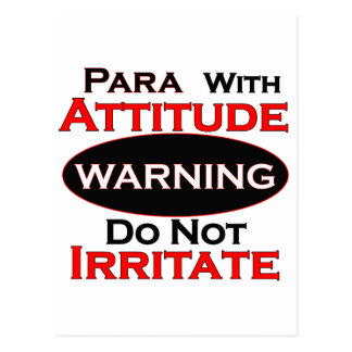 Para With Attitude Postcard