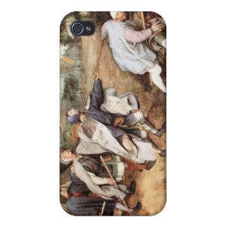 Parabal de los hombres ciegos de Pieter Bruegel iPhone 4 Carcasas