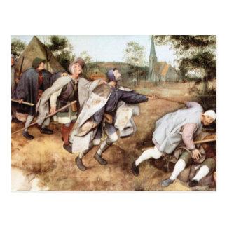 Parabal de los hombres ciegos de Pieter Bruegel Tarjetas Postales