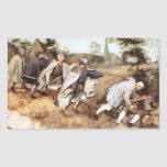 Parabal of the blind men by Pieter Bruegel Rectangle Stickers