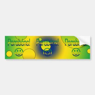 Parabéns! Brazil Flag Colors Pop Art Bumper Sticker