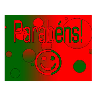 Parabéns! Portugal Flag Colors Pop Art Postcard