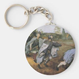 Parable of the Blind by Pieter Bruegel the Elder Basic Round Button Keychain