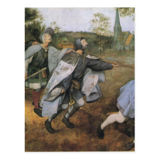 Parable of the Blind by Pieter Bruegel the Elder Postcard