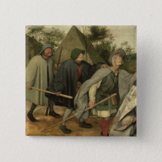Parable of the Blind, detail of three blind Pinback Button