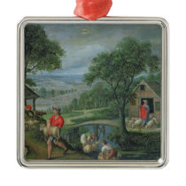 Parable of the Good Shepherd, c.1580-90 Metal Ornament