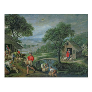 Parable of the Good Shepherd, c.1580-90 Postcard