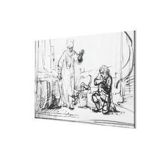 Parable of the ruthless creditor canvas print