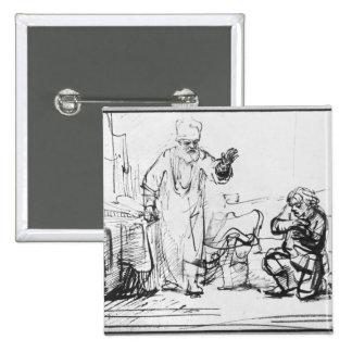 Parable of the ruthless creditor pinback button