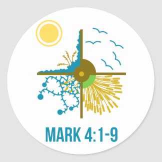 Parable of the Sower/Four Soils - Gospel of Mark Classic Round Sticker