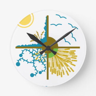 Parable of the Sower/Four Soils - Gospel of Mark Round Wall Clock