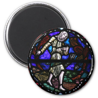 Parable of the Sower Stained Glass Art Magnet