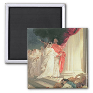 Parable of the Wise and Foolish Virgins, 1886 2 Inch Square Magnet