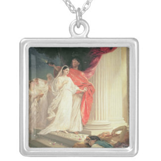 Parable of the Wise and Foolish Virgins, 1886 Silver Plated Necklace