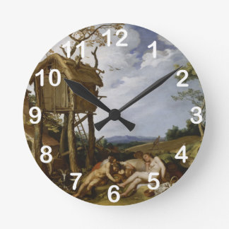 Parable of Wheat, Tares - Abraham Bloemaert (1624) Round Clock