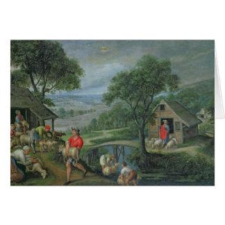 Parábola del buen pastor c 1580-90 felicitacion