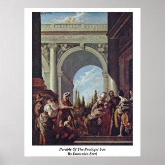 Parábola del hijo despilfarrador de Domenico Fetti Poster