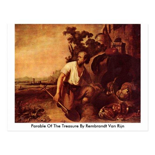 Parábola del tesoro de Rembrandt Van Rijn Postal