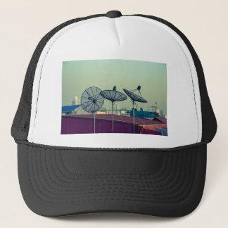 Parabolic antenna on the roofs of Bangkok Trucker Hat