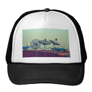 Parabolic antenna on the roofs of Bangkok Trucker Hat