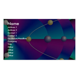 Parabolic orbits dimension Double-Sided standard business cards (Pack of 100)