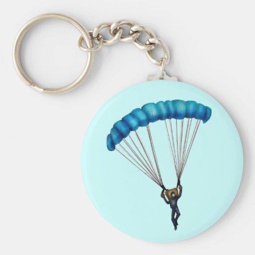 Paracaídas Basic Round Button Keychain